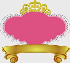 Fiesta de Princesas: Marcos, Toppers o Etiquetas para Imprimir Gratis.