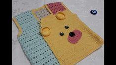 Ayıcıklı Yelek.nako elit baby  ( sarı ) 78398 / 2857 nako elit babay (pempe) 78398 /11452 nako elit baby (bej) 78398 /11451 alize babay best ( mint yeşili ) 349380 /514 ...2 nr tığ..2 adet  göz düğme...1 adet 4 delikli düğme. Crochet Baby Sweater Pattern, Baby Sweater Patterns, Baby Knitting Patterns, Knit Crochet, Crochet Videos, Baby Sweaters, Picnic Blanket, Coin Purse, Knitted Bags