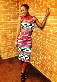 AFRICAN PRINT VINTAGE STYLE BUSTIER  SKIRT