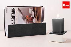 Magazine Rack & Candlestick by Koloo  www.koloo.it