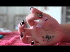 Tutorial de Nails quadriculadas