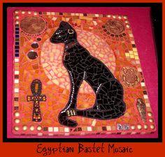 Bastet Egyptian Custom Mosaic