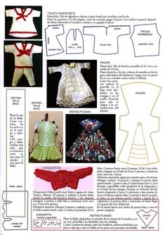 how to: patterns and instruction for mini doll children's clothes, in Spanish