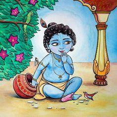 Makhanchor Krishna / Artist: Anna Kuzmina