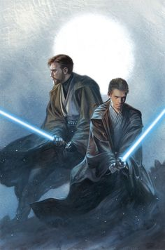 Star Wars Obi-Wan and Anakin Gabriele Dell'Otto Hastings Variant Cover Star Wars Fan Art, Star Wars Film, Star Wars Jedi, Star Trek, Anakin Vader, Darth Vader, Anakin Skywalker, Cultura Pop, Arte Do Harry Potter