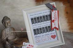 Geschenk Mitbringsel zum Einzug Umzug Rahmen Spruch Zuhause Familie Print