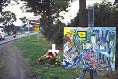Todeskreuz bei Halle , ca. 1996