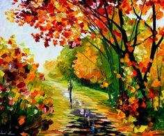 Leonid Afremov graduou-se em 1978 na Escola de arte de Vitebsk. Viveu trinta e cinco anos na União Soviética...
