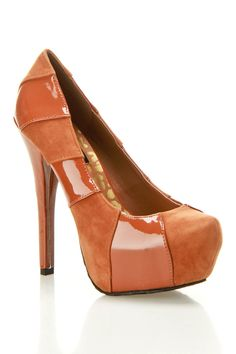 Platform Pump In Chestnut.