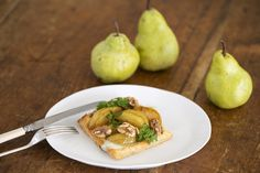 Fresh Pear & Blue Cheese Tarts  - Maggie Beer