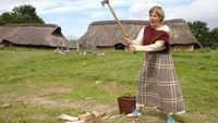 Sagnlandet - Land of Legends - Lejre.  10.000 years of Danish history brought to life. Houses and settings from the Iron Age, Stone Age, Viking Age and 1800th century, historic workshops and domestic animals, located in the beautiful historic landscape near Roskilde.