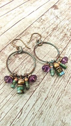 Handmade Bohemian Jewelry, Boho Chic Earrings, Hippie Chic Earrings