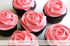 Make sure to watch the video! You can make these #Cupcakes! http://www.createdby-diane.com/2010/08/video-how-to-frost-a-rose-on-a-cupcake-in-20-seconds.html