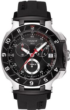 Tissot Men's T0484172705100 T-Race Black Chronograph Dial Watch Tissot. $502.14