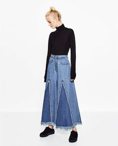 Image 1 of DENIM SKIRT CULOTTES from Zara