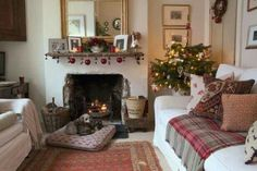 Cozy little sitting room at Christmas