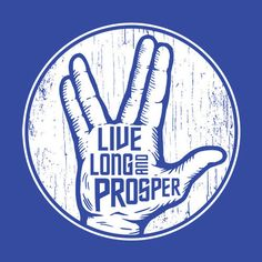 Live Long and Prosper T-Shirt Star Trek Spock Textual Tees Geek Shirts, Funny Tee Shirts, T Shirt, Star Trek Wallpaper, Movie Co, Movie Film, Killin Me Smalls, Star Trek Spock, Star Trek Original