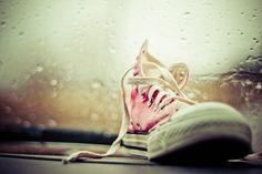 Pink at heart. Converse.