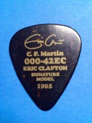 Martin Signature Series Eric Clapton Limited Guitar Pick 1995