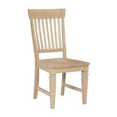 International Concepts Set Of 2 Java Natural Side Chairs C-11P