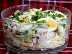 Polish Recipes, Pavlova, Bon Appetit, Mozzarella, Potato Salad, Salad Recipes, Cabbage, Food And Drink, Menu