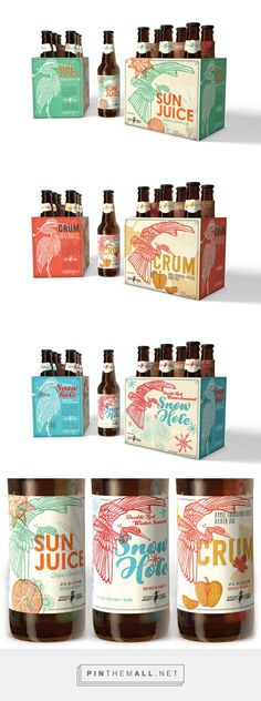 Stony Creek Brewery Seasonal Beer Series by Ashley Marshall. Pin curated by #SFields99 #packaging #design