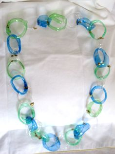 recycled plastic necklace by giovannacargnelli on Etsy, €20.00