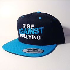 This hat is a blue and black snapback!  Available now at www.blankhatsforcharity.com