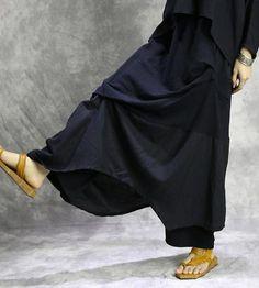 Original irregular loose culottes wide-legged pants