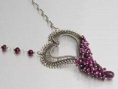 jewel school beaded wire heart