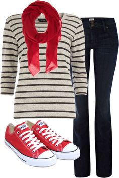 Trendy How To Wear Red Converse Outfits Casual Red Converse Outfit, Converse Style, Converse Fashion, Red Shoes Outfit, Red Chucks, White Chucks, Look Fashion, Fashion Outfits, Womens Fashion