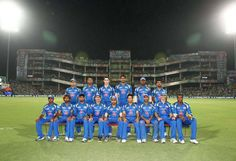 Mumbai Indians during the qualifier 1 match of the 2013 Pepsi Indian Premier League between The Chennai Superkings and the Mumbai Indians held at the Feroz Shah Kotla Stadium, Delhi on the 21st May 2013