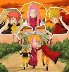 Nothing like a family walk #Naruto & #Sakura #NaruSaku
