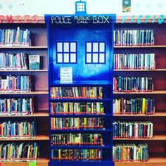 The Tardis Library Display at Medford Public Library - Teens