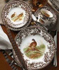 "southerngraceandsunshine: "" Spode's Woodland collection. Love Spode! """