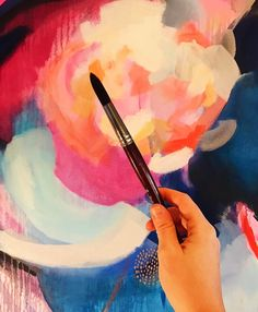 This brush just glides on the canvas so beautifully! There is nothing better than breaking in new art supplies.