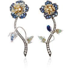 18K Gold Multi-Stoned Stud Earrings Bahina B23vfxZJz