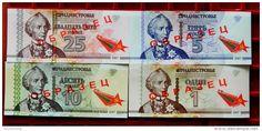 Pridnestrovian Moldavian Republic Transdniestria 4 banknotes set  25 years of…