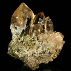 Smoky Quartz and Epidote / Anmeek Mine, Michigan / Mineral Friends <3