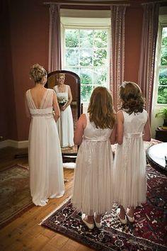 Pretty bride and bridesmaids –Wedderburn Castle