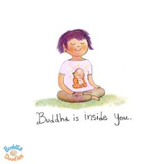 Today's Buddha Doodle - Close your eyes and see…