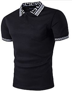 Camiseta+Casual+SimplesSólido+Branco+Preto+Algodão+Decote+Redondo+Manga+Curta+–+BRL+R$+159,84