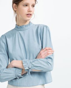 PLEATED COLLAR SHIRT-Blouses-TOPS-WOMAN | ZARA United States