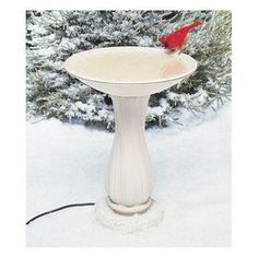 New Allied Precision Heated Bird Bath with Pedestal, Your birds will love it…
