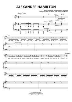 """Alexander Hamilton"" Sheet Music from 'Hamilton' by Lin-Manuel Miranda from OnlineSheetMusic.com"