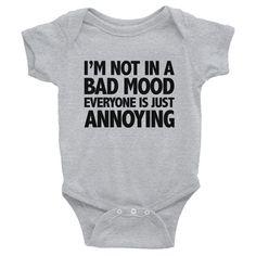 Moody Baby Onesie