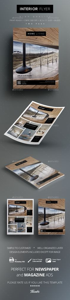 Multipurpose Interior Flyer  PSD Template • Download ↓ https://graphicriver.net/item/multipurpose-interior-flyer/17001891?ref=pxcr