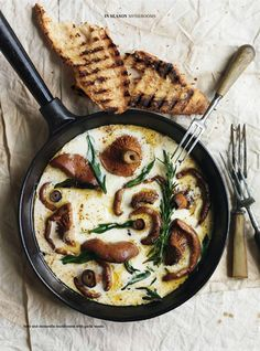 Mushrooms, cream and rosemary with a good glass of wine..You bet!