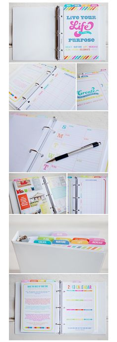 A few pictures of my Life Planner taken by Rebecca Cooper! :)  My life planner challenge starts tomorrow...January 15th...on my blog!  Come join me!