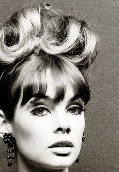 Jean Shrimpton, photo by John French, Jean Shrimpton, Fashion Photo, Fashion Models, Fashion Beauty, Vintage Hairstyles, Cool Hairstyles, Fantasy Hairstyles, 1960s Fashion, Vintage Fashion